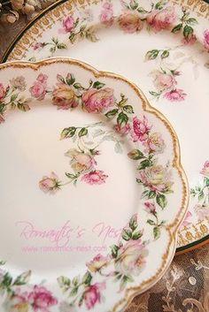 Rose plates, beautiful!