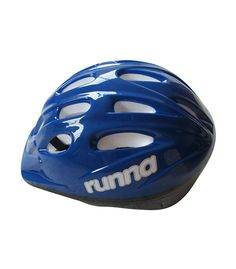 The Runna Cycle helmet comes in 3 colour and 2 size options. These are blue, red or pink with sizes medium 50 - 52 cm (3 - 6) or Large 52 - 54 cm.(6 - 9) Complies with New Zealand Safety requirements and compliant with European standard EN 1078 This page is for the Blue - Medium Helmet.