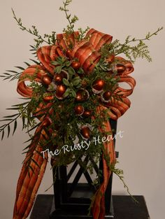 Fall Lantern Swag by TheRustyHeart on Etsy, $24.99