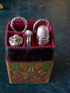 SEWING SET/ETUI ~ Antique Lady's Companion Sewing Set ~ Sterling Silver ~  English ~ Circa 1850's  at Vintage Pleasures on Ruby Lane.idea for tool box