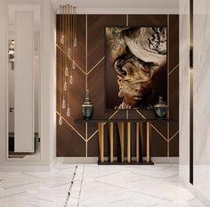 43 Luxurious Interior Design Ideas To Perfect Your Home Design Home Entrance Decor, Entrance Design, Entryway Decor, Home Room Design, Home Interior Design, Living Room Designs, House Design, Lobby Interior, Luxury Interior