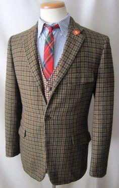 Anni sessanta VTG DAKS pesante lana TWEED di SparrowsAndWolves