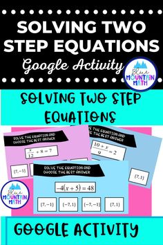 Looking for a self-checking way to practice solving two step equations with an engaging activity? This activity includes 16 problems in google slides where students solve the equations and get immediate feedback on whether correct or not. Note: students use this activity in present mode. Recording sheet is included so students can show their work. Internet suddenly out? No problem. You can print out the problems and have the students complete the activity.