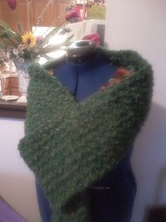 Green Scarf Crochet Winter of 2014
