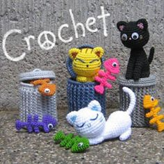 Amigurumi Patterns: some free, some not. Love this Alley Cat scene, though.