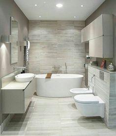 Wood Look Tile Distressed Rustic Modern Ideas Pinterest - Modern bathroom fountain valley