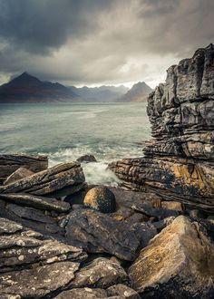 "wanderthewood: "" Storm brewing over Elgol - Isle of Skye, Scotland by Dave Fieldhouse """