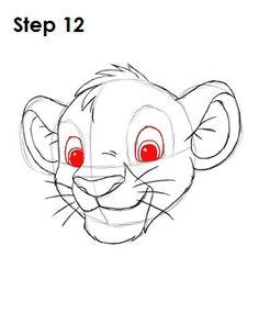 Draw Simba Step 12