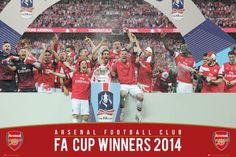 Arsenal FA Cup Winners 13/14 - plakat - 91,5x61 cm  Gdzie kupić? www.eplakaty.pl