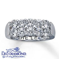 Diamond Anniversary Ring 1 3/4 ct tw Round-Cut  14K White Gold