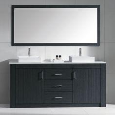 Virtu USA Tavian 72-inch Double Bathroom Vanity Cabinet Set in Grey - Overstock™ Shopping - Great Deals on VIRTU Bathroom Vanities