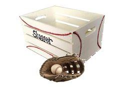 BASEBALL EQUIPMENT STORAGE TOY BOX https://www.etsy.com/listing/239373508/baseball-toy-box-baseball-themed-storage