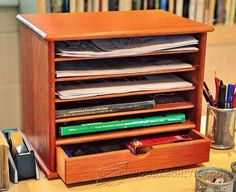 Wooden Desk Tidy Plans - Woodworking Plans and Projects | WoodArchivist.com