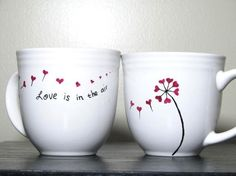 Cute Tea Cups for coffee - List of the most creative DIY and Crafts Mugs Sharpie, Diy Mugs, Oil Sharpie, Black Sharpie, Sharpie Projects, Sharpie Crafts, Art Projects, Pottery Painting, Ceramic Painting