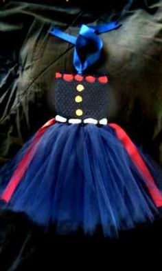USMC Tutu - This is adorable! This is so cute I know at least one of my friends would do this if they have a little girl.