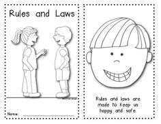 {Rules and Laws} Emergent Reader for Young Students: Social Studies. $