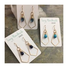 Gorgeous gemstone earrings!! Now listed in the shop✌