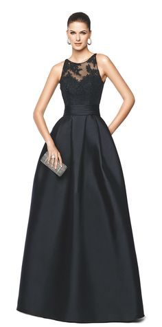 NALLIBE - flared black cocktail dress. Pronovias 2015 | Pronovias