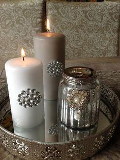 Love the look of the mercury glass jar