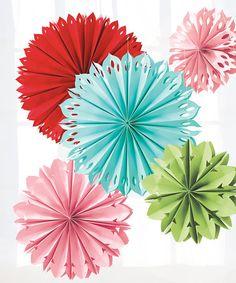 Another great find on #zulily! Modern Festive Paper Flower Set #zulilyfinds