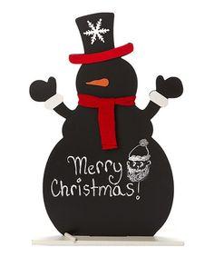 Another great find on #zulily! Red Scarf Snowman Blackboard #zulilyfinds
