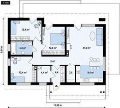 New Kitchen Cottage Decor Floor Plans Ideas Bungalow House Plans, Dream House Plans, Modern House Plans, House Floor Plans, Luxury Interior Design, Interior Design Kitchen, Kitchen Decor, The Plan, How To Plan