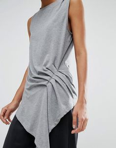 S Silja Short Sleeve Top. With a variety of delivery, payment and return options available, shopping with ASOS is easy and secure. Shop with ASOS today. Ropa Upcycling, Cool Outfits, Casual Outfits, Sewing Blouses, Fashion Details, Fashion Design, Fashion Project, Fabric Manipulation, Refashion