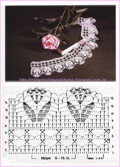 The tulip crochet border - delicate and beautiful