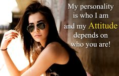 Latest Attitude Status and Quotes for Whatsapp: Want to show your attitude to your friends by updating your Whatsapp Status? But you are looking for the best and perfect Attitude Status that suits your personality? Attitude Thoughts, Attitude Quotes For Girls, Crazy Girl Quotes, Girl Attitude, Inspirational Quotes For Girls, Girly Quotes, Swag Quotes, Change Quotes, Quotes Quotes