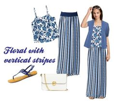 Floral with vertical stripes by laura-ferrari-mercier on Polyvore featuring moda, Halogen, Venus, American Rag Cie and Tory Burch