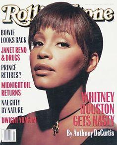 Whitney Houston covers Rolling Stone magazine.  Whitney Elizabeth Houston  August 9, 1963 – February 11, 2012