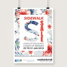 We conceptualised & executed the Rosebank Sidewalk Sale with this vibrant & summer look & feel. #ccevents #marketing #botanicals
