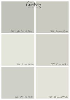 Comparing Sherwin Williams Light French Gray to other popular colors. Crushed Ice our Origami White for the foyer? Bedroom Paint Colors, Paint Colors For Living Room, Paint Colors For Home, House Colors, Light Grey Paint Colors, Gray Color, Light Gray Walls, Light Colors, Colours