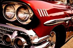 1958 Red Chevy Impala