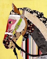 Horse Art - Abstract Modern Horse Art by Michel Keck