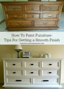 how to paint furniture – DIY tips for getting a smooth finish. how to paint furniture – DIY tips for getting a smooth finish. Old Furniture, Refurbished Furniture, Repurposed Furniture, Furniture Projects, Furniture Making, Home Projects, Furniture Stores, Furniture Update, Furniture Online