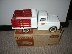 1963 TONKA Toy No. 404 Farm Stake Truck with Original Box Very Good to Excellent