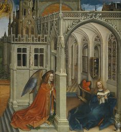 st1mu11:  Anatomy of a trope: The Annunciation Robert Campin, 1418-19  #ARCHITECTURE INTO #ART | #MEDIEVAL #PAINTINGRobert Campin (c. 1375, Valenciennes – 26 April 1444)
