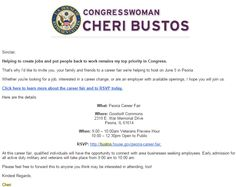 Rep. Cheri Bustos  We Support your job fair. Please keep us informed of your PROGRESS and success!!! POLITICAL ADVO Sinclair L.D. Johnson, President and Founder  http://bustos.house.gov/peoria-career-fair