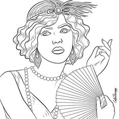 Vintage coloring pages 1950s ~ 310 Best Fashion Coloring Pages for Adults images in 2019 ...