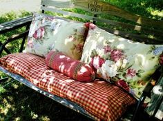 Make benches more comfy...body and regular pillows
