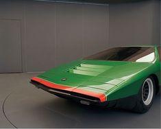 greenchallenger:  Alfa Romeo 33 Carabo - Bertone, 1968 #alfaromeocarabo