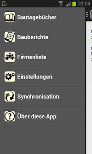 Bauskript Bautagebuch App - screenshot thumbnail