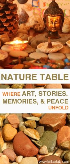 Nature Table: Where Art, Stories, Memories, and Peace Unfold - TinkerLab --- Creative Play for Curious Kids Learning Activities, Activities For Kids, Montessori, Peace Education, Outdoor Learning, Outdoor Play, Inspired Learning, Waldorf Education, Nature Table