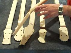 Make a scarf joint for your cigar box guitar neck - YouTube