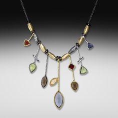 Seven Stick Stone Necklace: Suzanne Q Evon: Jewelry Necklaces   Artful Home