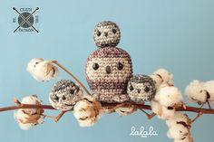 El Club del Patrón: Familia de lechuzas por Lalala Toys con Natura Denim