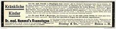 Original-Werbung/ Anzeige 1897 - DR.HOMMEL´S HAEMATOGEN / NICOLAY - HANAU - ca. 190 x 45 mm