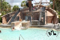 Small slide for younger kids at the pool at Disney's Beach Club Resort. http://www.buildabettermousetrip.com/disneys-beach-club   #BeachClub #DisneyWorld