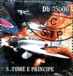 Stamp: Japanese planes of World War II (São Tomé and Príncipe) (War – All others) Mi:ST 4416